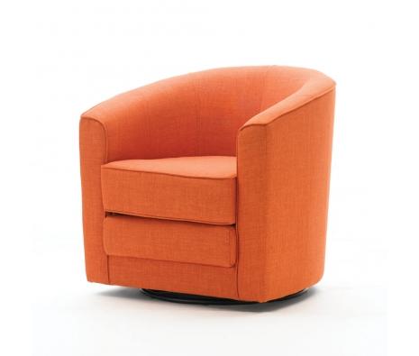 Pics Photos Home Barrel Swivel Chair Orange