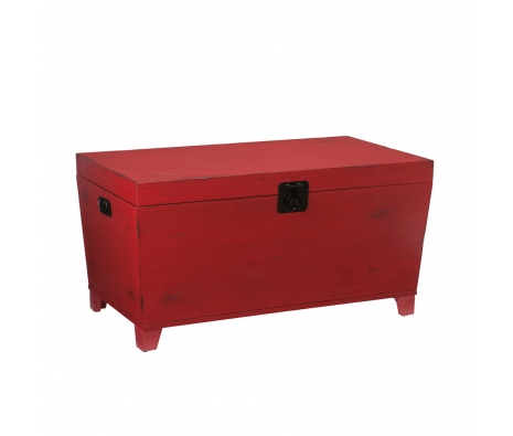 Acalan Trunk, Red made by Vintage Inspired Tables & Trunks.