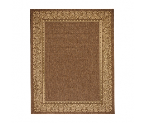 Brown Terme Outdoor Rug, 5' x 8' made by Anji Mountain Rugs.