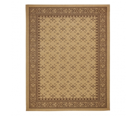 Crème/Brown Murat Outdoor Rug, 5' x 8' made by Anji Mountain Rugs.