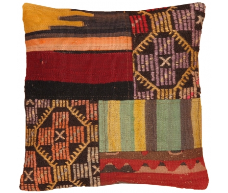 "19"" x 19"" Bolu Kilim Pillow made by Kilim Pillows."