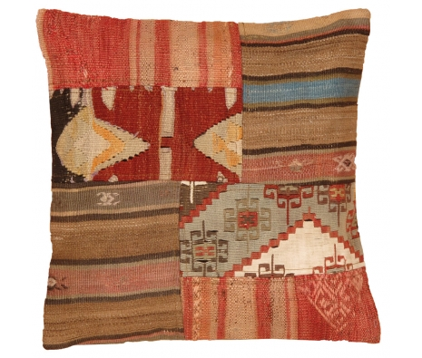 "19"" x 19"" Tomarza Kilim Pillow made by Kilim Pillows."