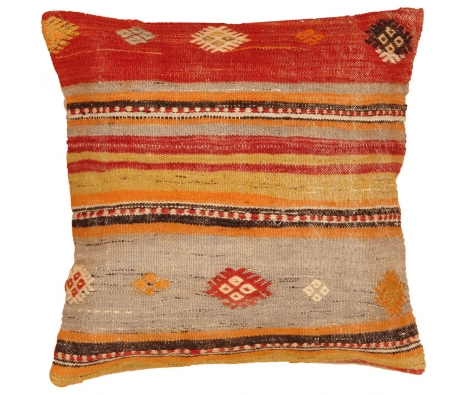 "19"" x 19"" Borca Kilim Pillow made by Kilim Pillows."