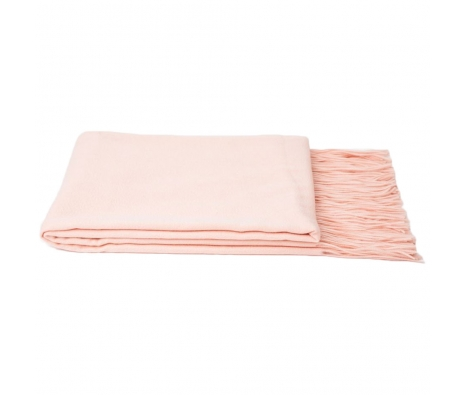 100% Cashmere Throw, Baby Pink made by Cashmere Heaven.