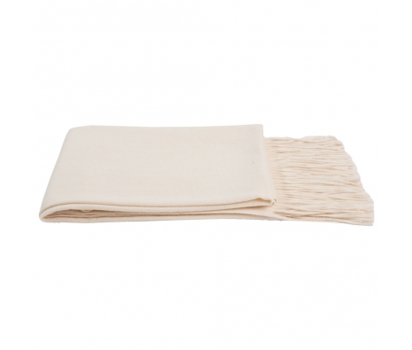 100% Cashmere Throw, Crème Fraiche made by Cashmere Heaven.