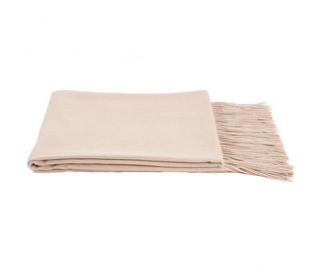 100% Cashmere Throw, Oatmeal made by Cashmere Heaven.