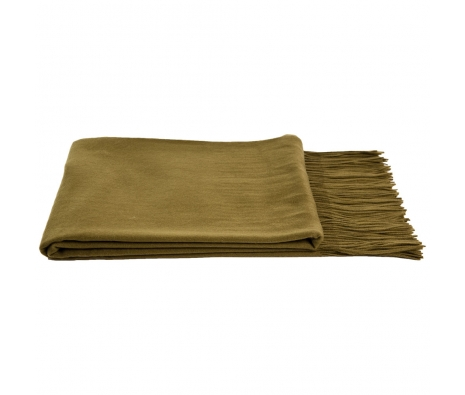 100% Cashmere Throw, Olive made by Cashmere Heaven.