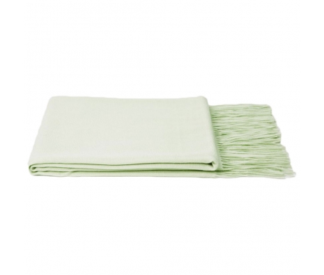 100% Cashmere Throw, Green made by Cashmere Heaven.