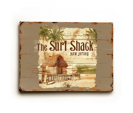 Surf Shack Distressed Artwork made by Coastal Living.