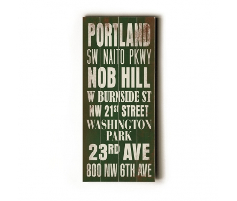 Portland Transit Sign made by Artehouse Transit.