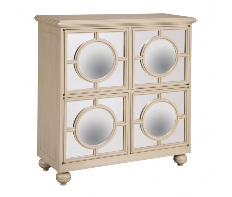 Politiers Mirrored Cabinet, Neutral made by Accent Furniture & Mirrors by Bailey Street .