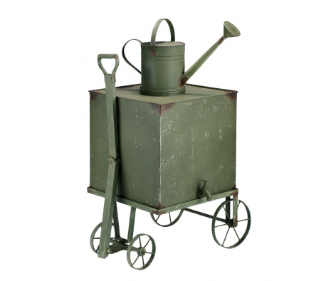 Aiken Iron Moss Garden Cart made by Rustic Finds .