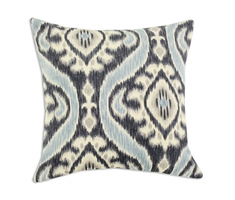 "Uzbek 17"" x 17""  Pillow, Denim made by Throw Pillows by Chooty & Co. ."