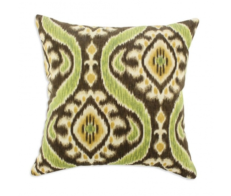 "Uzbek 17"" x 17""  Pillow, Lime made by Throw Pillows by Chooty & Co. ."