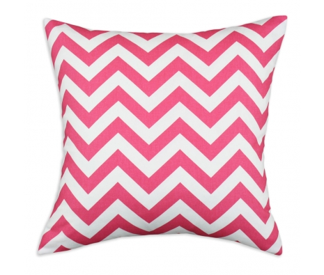 17 x 17 Chevron Pillow, Hot Pink made by Pillows, Poofs & Pet Beds.