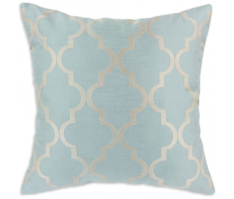 "19"" x 19"" Light Blue Moroccan Tile Pillow made by Pillow Talk."