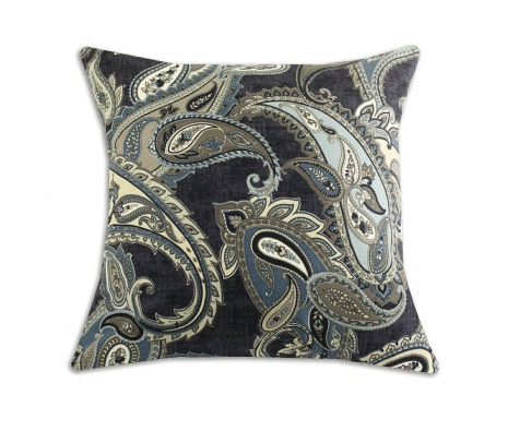 "Paisley 26"" x 26"" Pillow, Indigo made by Throw Pillows by Chooty & Co. ."
