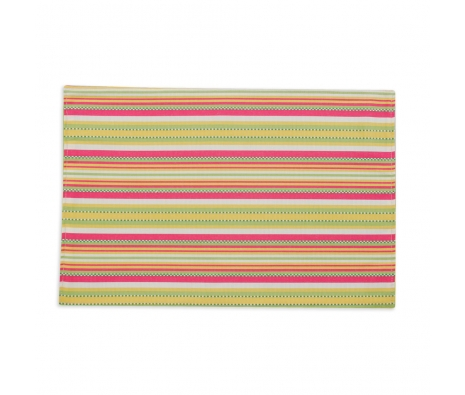 S/4 Sorbet Stripe Placemats, Watermelon made by Tabletop Decor.