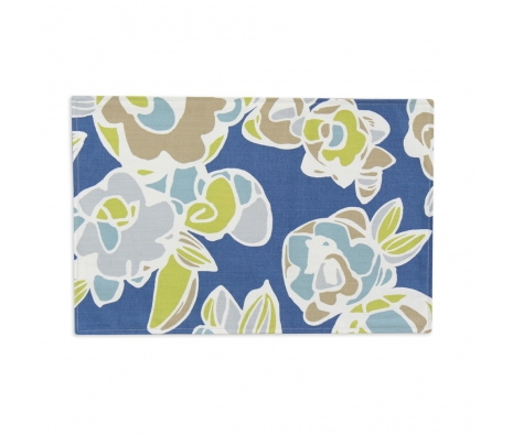 S/4 Gardenia Bluebird Placemats, Blue made by Tabletop Decor.
