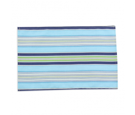 S/4 Getaway Stripe Placemats, Sky made by Tabletop Decor.