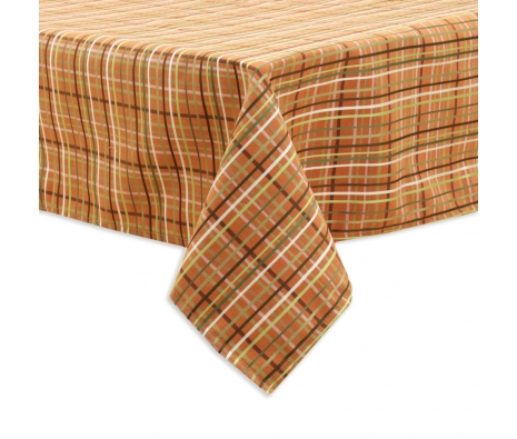 Plaid Tablecloth, Orange made by Tabletop Decor.