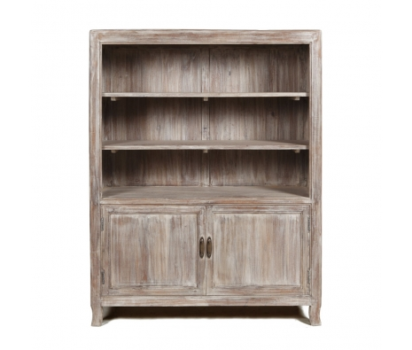 Bastia 2 Door Bookcase made by Boho Chic Furniture & Accessories.