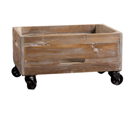 Stratford Rolling Box made by Rustic & Reclaimed Furniture .