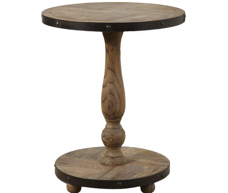 Kumberlin Round Table made by Rustic & Reclaimed Furniture .