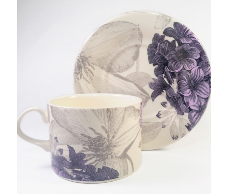 Andrew Tanner for Royal Stafford Clematis Breakfast Cup/Saucer made by Clematis by Andrew Tanner.
