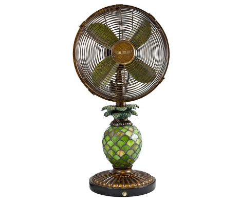 "10"" Mosaic Glass Table Fan, Pineapple made by It's A Breeze ."