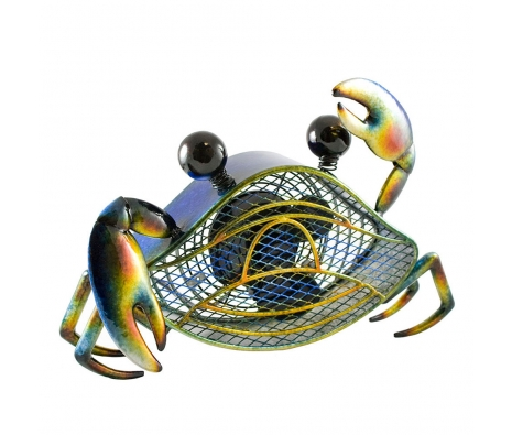 Blue Crab Figurine Fan made by It's A Breeze .