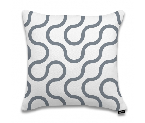 "17""x17"" Circuit Pillow, Grey made by DQtrs."