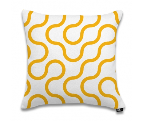 "17""x17"" Circuit Pillow, Orange made by DQtrs."