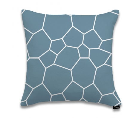 "17""x17"" Poligoni Pillow, Dusk made by DQtrs."