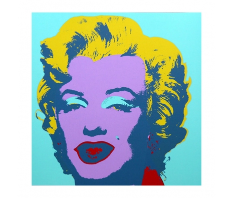 11.23: Marilyn Monroe made by Sunday B. Morning Authorzied Andy Warhol Reproductions.