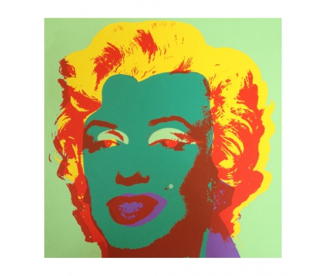 11.25: Marilyn Monroe made by Sunday B. Morning Authorzied Andy Warhol Reproductions.