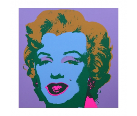 11.28: Marilyn Monroe made by Sunday B. Morning Authorzied Andy Warhol Reproductions.