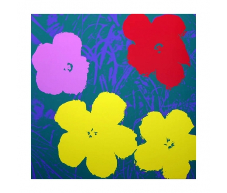 11.65: Flowers made by Sunday B. Morning Authorzied Andy Warhol Reproductions.