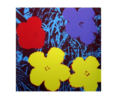 11.71: Flowers made by Sunday B. Morning Authorzied Andy Warhol Reproductions.