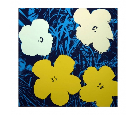 11.72: Flowers made by Sunday B. Morning Authorzied Andy Warhol Reproductions.