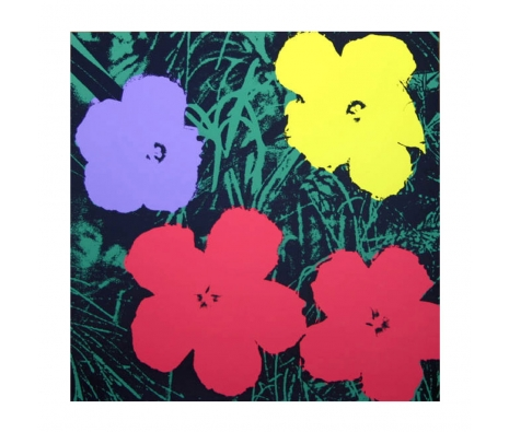 11.73: Flowers made by Sunday B. Morning Authorzied Andy Warhol Reproductions.