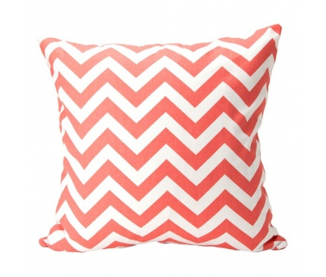 "20"" x 20"" Ballena Pillow, Coral made by Elisabeth Michael ."