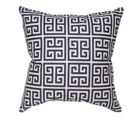 "20"" x 20"" Fernbrook Pillow, Navy made by Elisabeth Michael ."