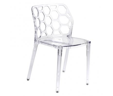 Clear Kalmar Chair, Set of 4  made by Dining In Style .
