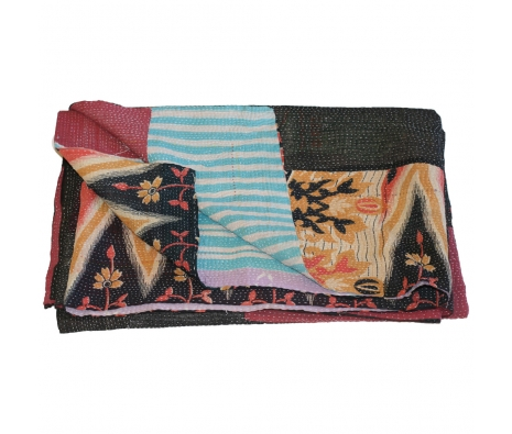 Somerset Sari Throw made by Vintage Sari Pillows, Throws, Totes & Rugs..