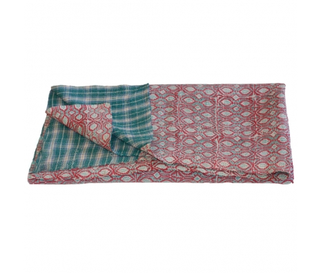 Marlow Sari Throw made by Vintage Sari Pillows, Throws, Totes & Rugs..