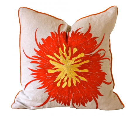 "20"" x 20"" Dawson Pillow made by Vintage Sari Pillows, Throws, Totes & Rugs.."