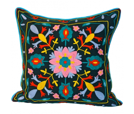 "20"" x 20"" Beaufort Pillow made by Vintage Sari Pillows, Throws, Totes & Rugs.."
