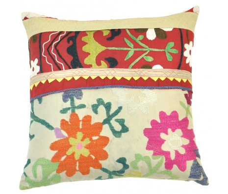 Mansur Suzani Pillow made by Found Object.