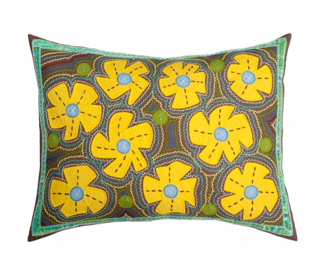 Melissa Flores Pillow made by Honduras Threads.